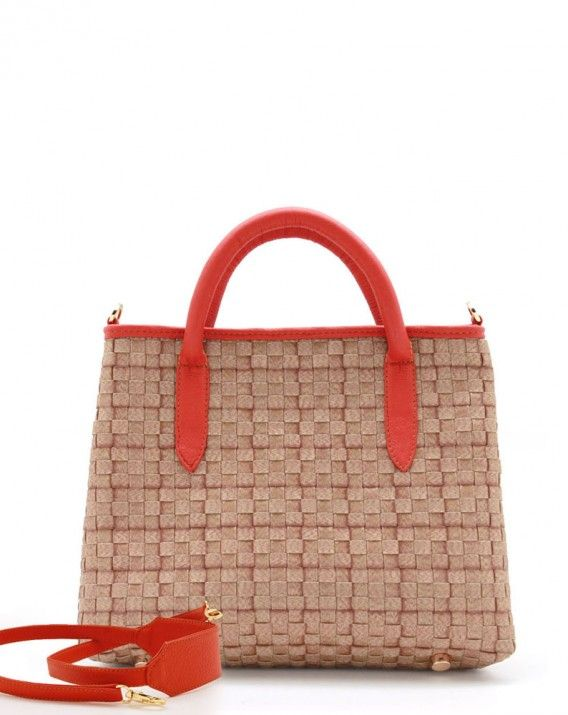 Fara in Salamander Orange - Try something a little smaller on for size, like our Fara Miniature City Bag. With a compact leather crossbody outfitted with pockets that will keep your essential items organized and in sight.     *Chameo Couture fashion bags are artisan handmade and handwoven, therefore the pictures are close reference but not exact representation, as each item is unique and special, with its distinct patterns and natural characteristics/textures of a handmade product.