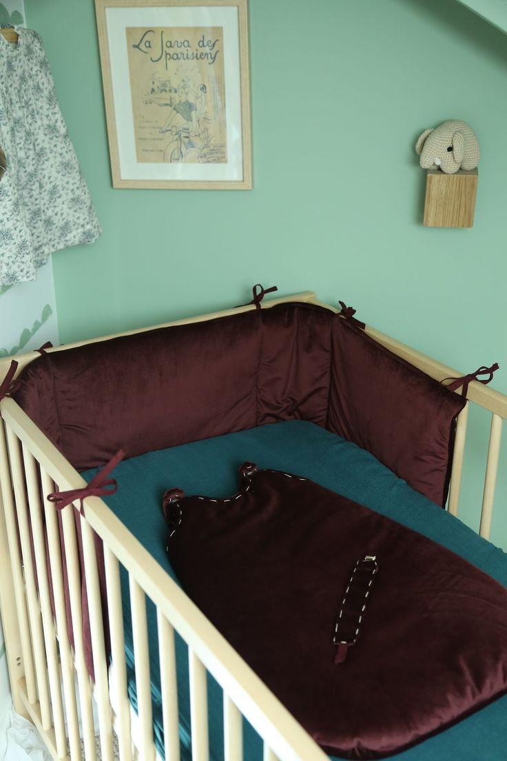 Tour de lit , gigoteuse et attache tétine Collection Velvet Sienna