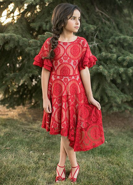 0a686d7cedf Emilia Dress in Garnet - Jeune Fille