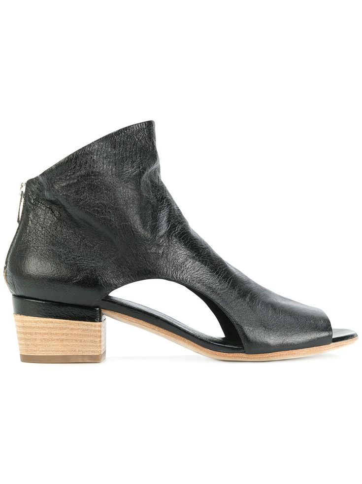 OFFICINE CREATIVE | open toe cut out sides ankle boots #Shoes #OFFICINE CREATIVE