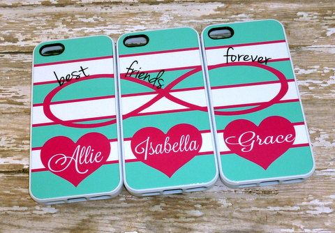 Infinity sign with hearts Best Friends Phone cases