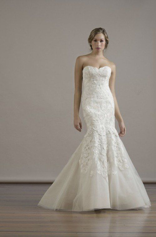 A lace mermaid gown is destined to be a showstopper! Fall 2015 Liancarlo Wedding Dresses