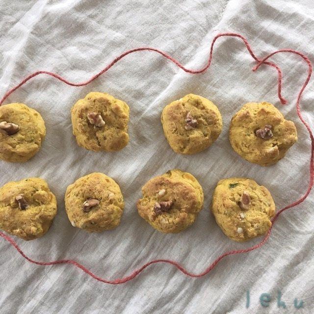 かぼちゃスコーンをれふの遊びレシピで作ります↟⌂*⍋