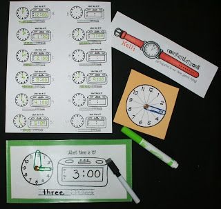 Classroom Freebies: Telling Time Games