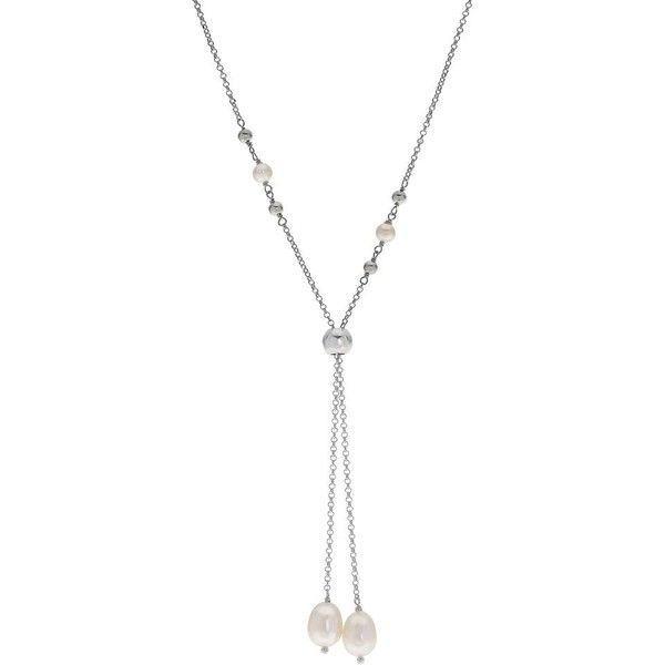 PearLustre by Imperial Freshwater Cultured Pearl Bolo Necklace ($80) ❤ liked on Polyvore featuring jewelry, necklaces, white, fresh water pearl jewelry, cultured pearl necklace, cultured pearl jewelry, adjustable necklace and freshwater cultured pearl necklace