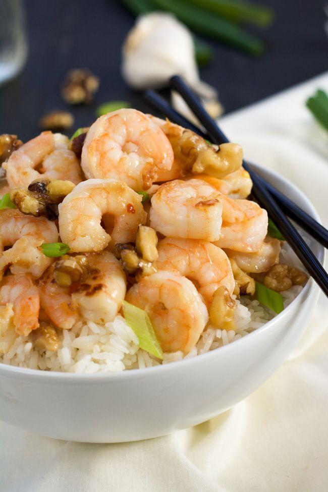 Skinny Honey Walnut Shrimp
