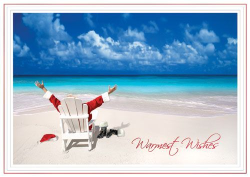 Image detail for -Tropical Christmas Cards :: Warm Weather Cards :: Santa Relaxing at ...