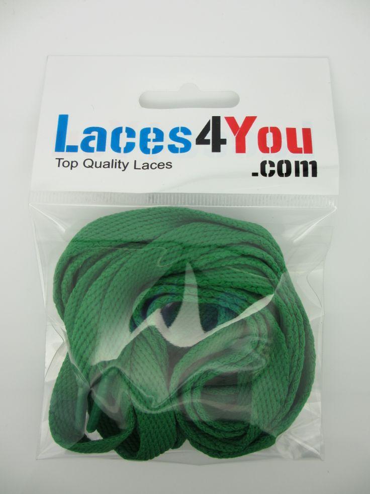 Flat Dark Green 10mm Laces.