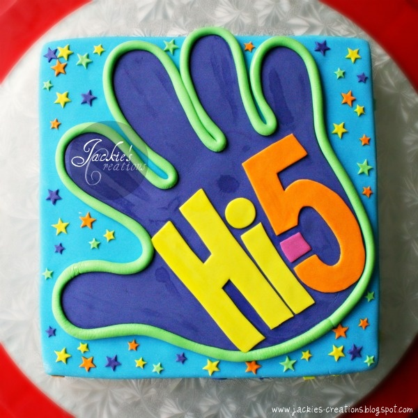 Hi 5!! birthday cake