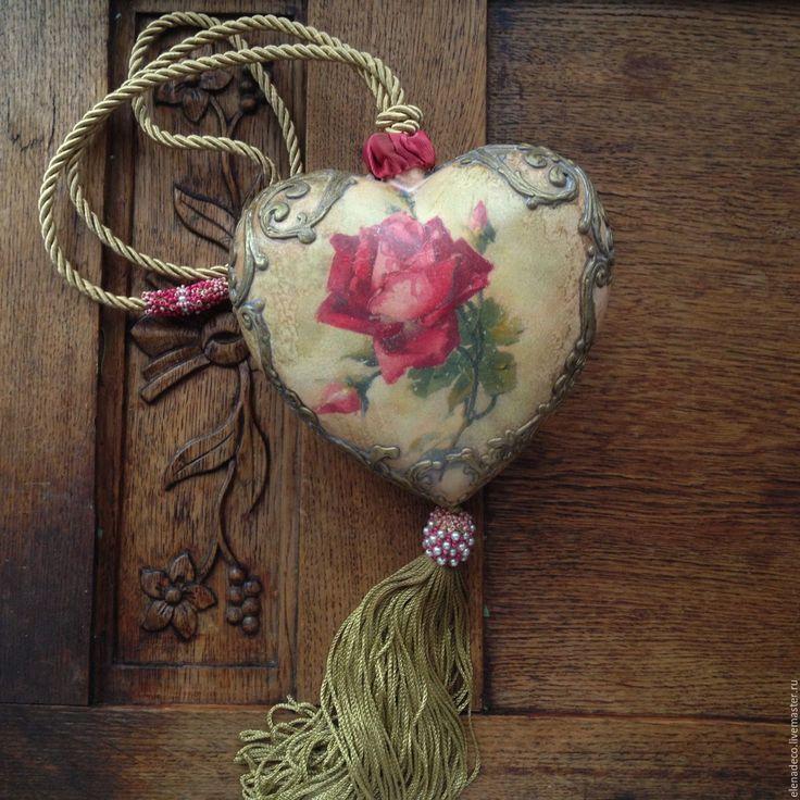 """Купить """"ROSE"""" Большое интерьерное сердце. - сердце, большое сердце, подарок на день валентина, роза"""