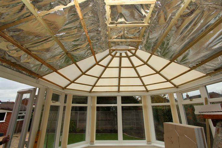 The conservatory insulation process