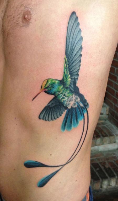 Realistic Hummingbird Tattoos | Paradise Tattoo Gathering : Tattoos : Diego : Hummingbird Tattoo