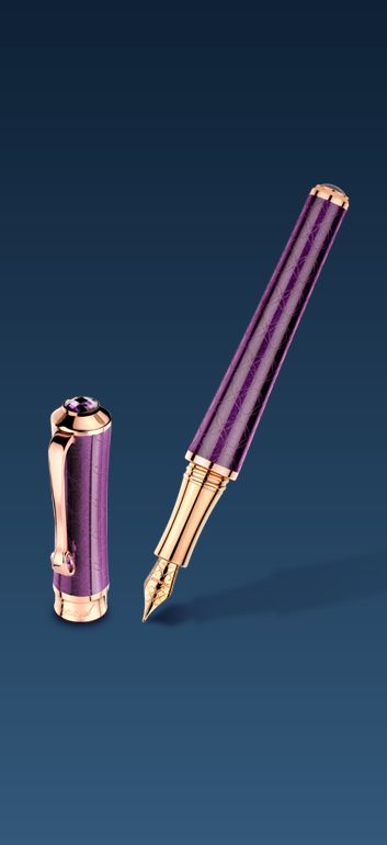 IMPERIALE fountain #pen with a delicate lotus-shaped engraving