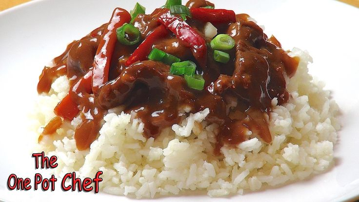 The One Pot Chef Show: Slow Cooked Mongolian Beef - RECIPE