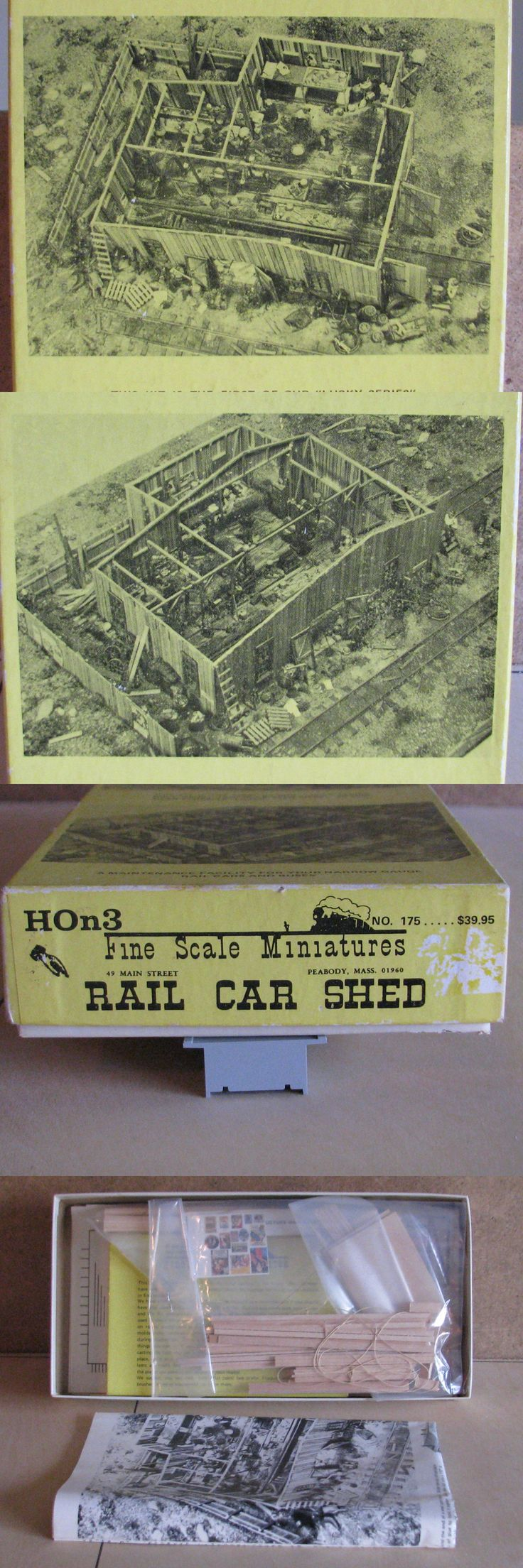 Buildings Tunnels and Bridges 117369: Fine Scale Miniatures Fsm - Rail Car Shed #175 Ho Scale -> BUY IT NOW ONLY: $127 on eBay!