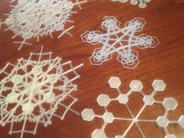 Copos de Nieve 3D, Printing 3D