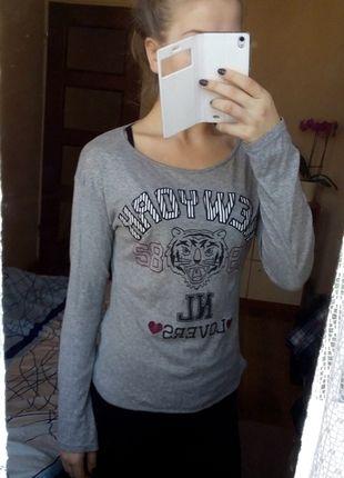 Kup mój przedmiot na #vintedpl http://www.vinted.pl/damska-odziez/bluzki-z-dlugimi-rekawami/10808073-koszulka-szara-bershka
