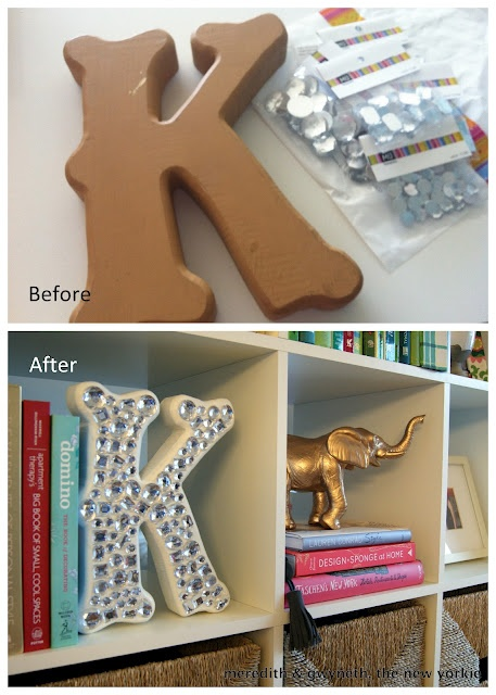 Everything is better with bling:  diy initials. A must for our baby girl!