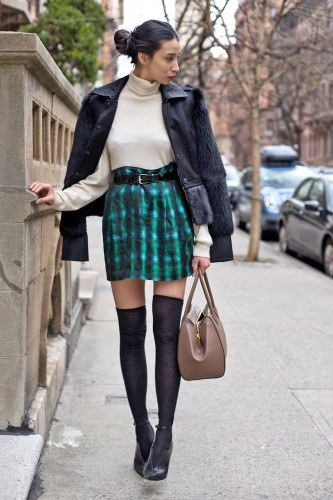 knee high socks with booties - flirty & chic.