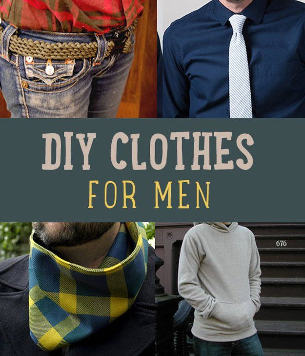 DIY Clothes for Men | diyprojects.com/diy-clothes-for-men/