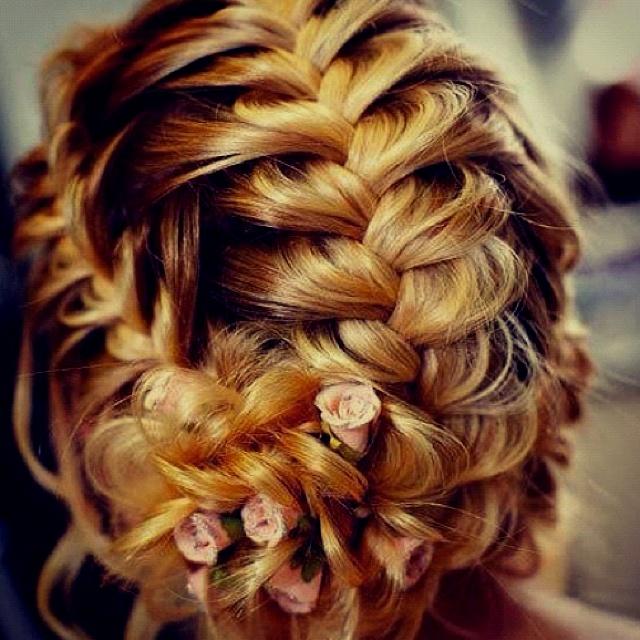 Fancy braid.: Hair Ideas, Wedding Hair, Hairstyles, Hair Styles, Wedding Ideas, Makeup, Braids, Updo