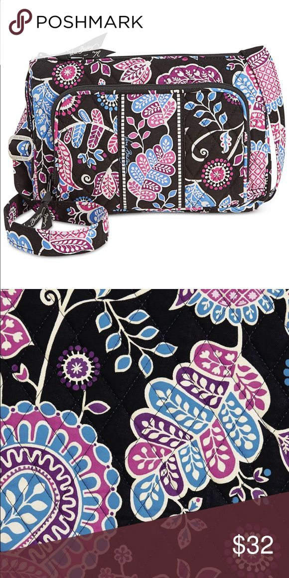 Vera Bradley Little Hipster in Alpine Floral Used for only about a month. Only flaw shown in second pic, located on the strap's underside. Comes with original tag. Vera Bradley Bags Crossbody Bags