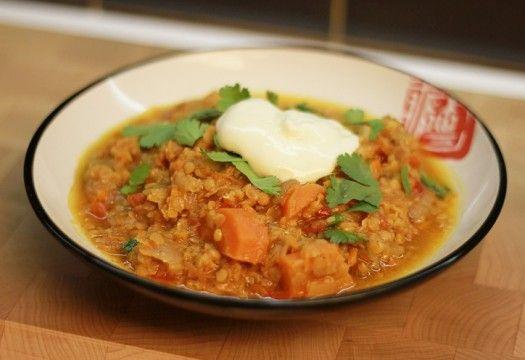 Curry lentejas rojas