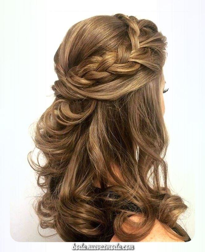Excepcional Peinados De Dama De Honor único Para El Gran Día Medium Hair Styles Half Up Curls Medium Length Hair Styles