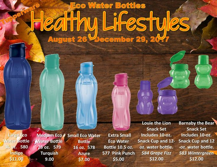 Tupperware Eco Water Bottles are a must for everyone in your life, click through to order them all now.