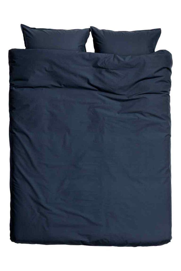 Washed cotton duvet cover set | H&M