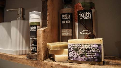ned's nest - included toiletries