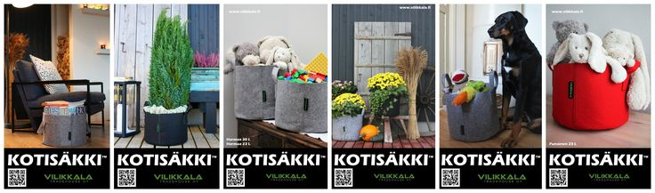 Store you precious home items or use as a garden bag! #Kotisäkki