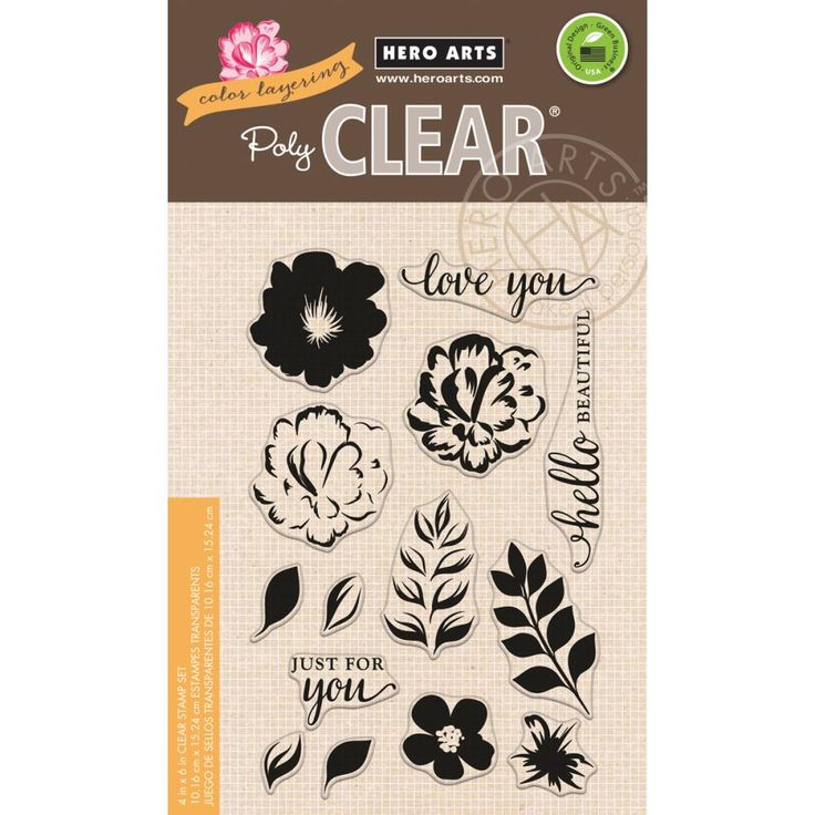 HERO ARTS - Clear Stamps 4X6 - COLOR LAYERING FOR YOU FLOWERS