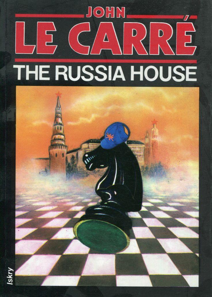 """The Russia House"" John le Carré Translated by Ewa Życieńska Cover by Krystyna Töpfer Illustrated by Janusz Gutkowski Published by Wydawnictwo Iskry 1991"