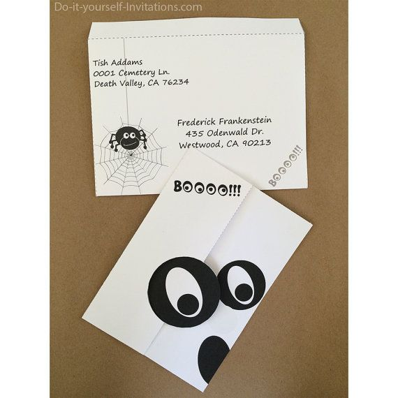 Best Diy Halloween Invitations And Party Set Templates Images