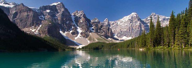 Canada, lac Moraine (parc national de Banff) : mon récit de voyages et d'autres photos ici http://www.unmondeailleurs.net/canada-lac-moraigne-louise-parc-de-banff/