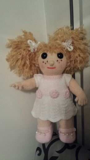 Hand knitted  Doll .