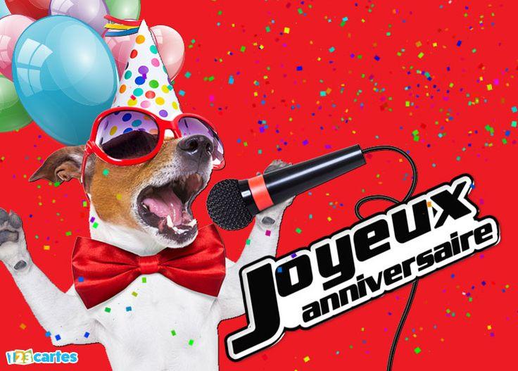 Carte joyeux anniversaire la plus belle voix