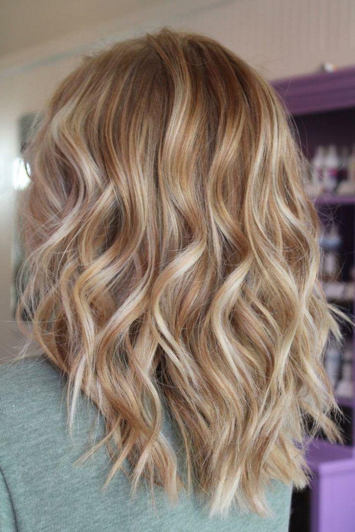 Haarfarbe Caramel Blond Mittellange Haare Romantische Locken