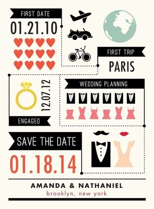 Infographic Save the Date Card