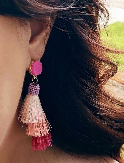 fd5a7647f Tassel statement earrings from JcPenney @jenskissblog#ShopStyle  #shopthelook #SpringStyle #SummerStyle #MyShopStyle #BeachVacation  #BirthdayParty ...