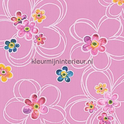 Grote en kleine bloemen behang 304602, Boys and Girls 5 van AS Creation