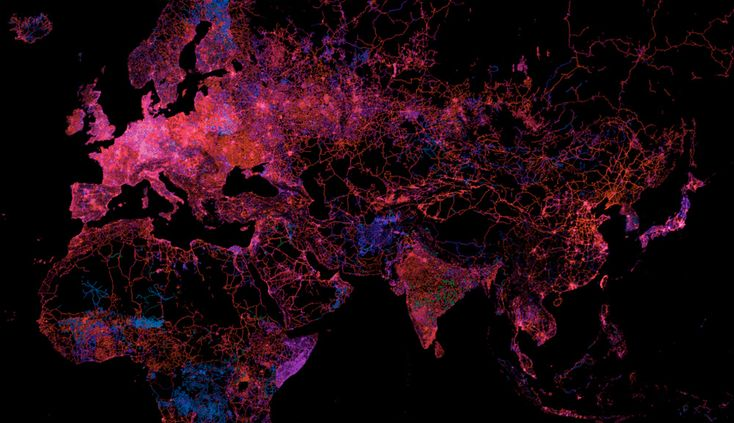 The million-plus amateur cartographers who volunteer their time to plot roads, streets, and even shrubbery for Open Street Map were busier than ever this year. The beautiful map above, created by MapBox, shows how the database has grown since its inception in 2004. Hot pink areas are newly mapped, blue and green areas are older.