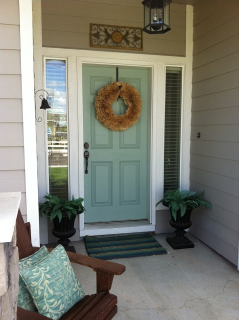 Front door color - kind of like this for my dark brick house.