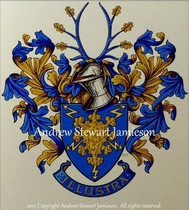 The Armorial Bearings of Yens Wahlgren this is original hand drawn and painted artwork created by British Artist and Designer Andrew Stewart Jamieson and is fully copyrighted. No portion of this can be used to create another piece of artwork. Do not copy, trace or digitally manipulate. (heraldry, heraldic art, heraldic artists, coats of arms, fine art, The Jamieson Family)