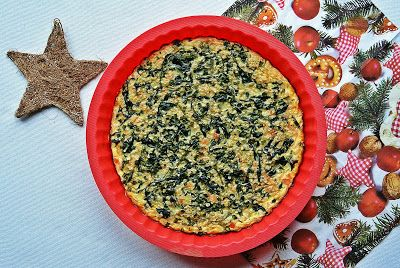 Frittata with salmon and spinach