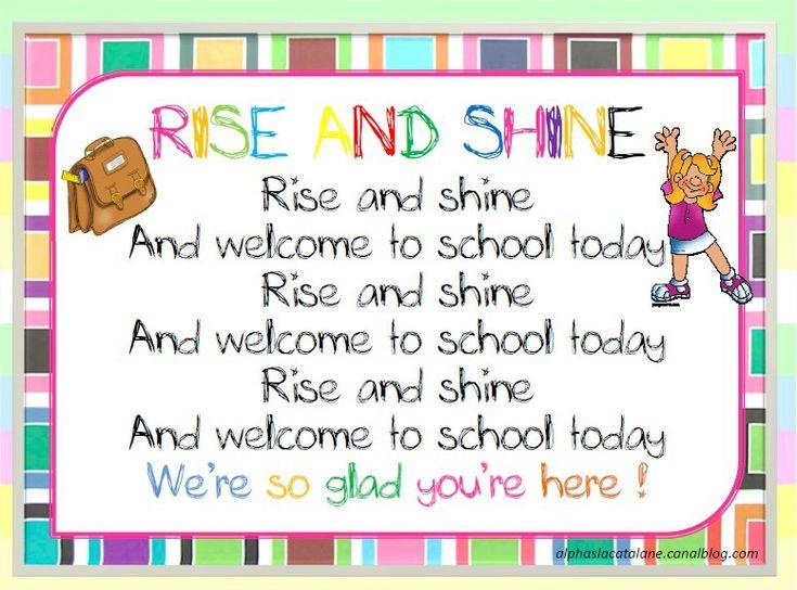 Rise and Shine, comptine en anglais pour la rentrée (LaCatalane)