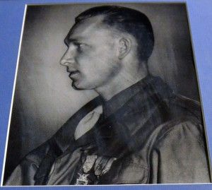 Staff Sgt. Junior James Spurrier (1922-1984) was the only 35th Infantry Division Soldier to be awarded the Medal of Honor in World War II. In action against the enemy at Achain, France, on 13 November 1944. His valor has shed fresh honor on the U.S. Armed Forces. SSG Spurrier was awarded the Distinguished Service Cross for extraordinary heroism on 16 September 1944, in France. Read more.