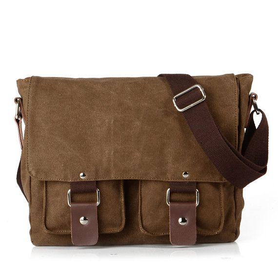 Mens Waxed Canvas Bag,Mens Messenger Bag, Messenger Bag Men, Waxed Canvas Messenger Bag, Laptop Mens Bag, Field Canvas Messenger Bag NO.2101