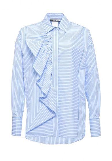 Рубашка Sportmax Code выполнена из эластичного хлопкового текстиля. Особенности: прямой крой; цен...